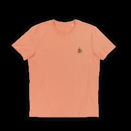 Nerdindustries Death before Decaf Kaffeetasse weißer Frontprint auf orangem T-Shirt