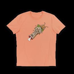 Nerdindustries Bugfisting mehrfarbiger Frontprint auf orangem T-Shirt